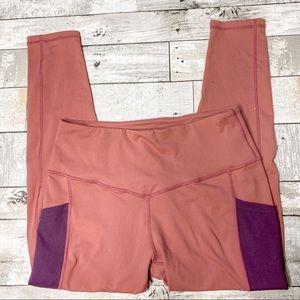 Born primitive pocketed pink/purple leggings